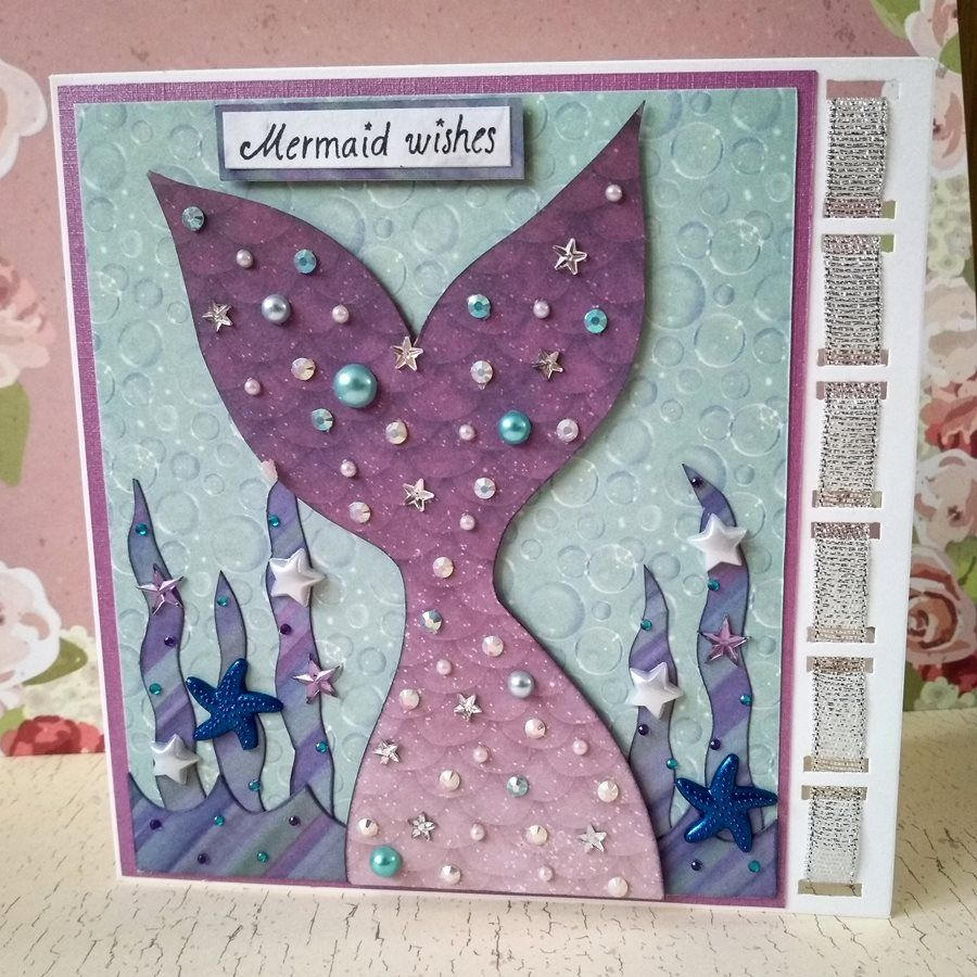 Mermaid Birthday Card Birthday Card Craft Kids Birthday Cards Girl Birthday Cards