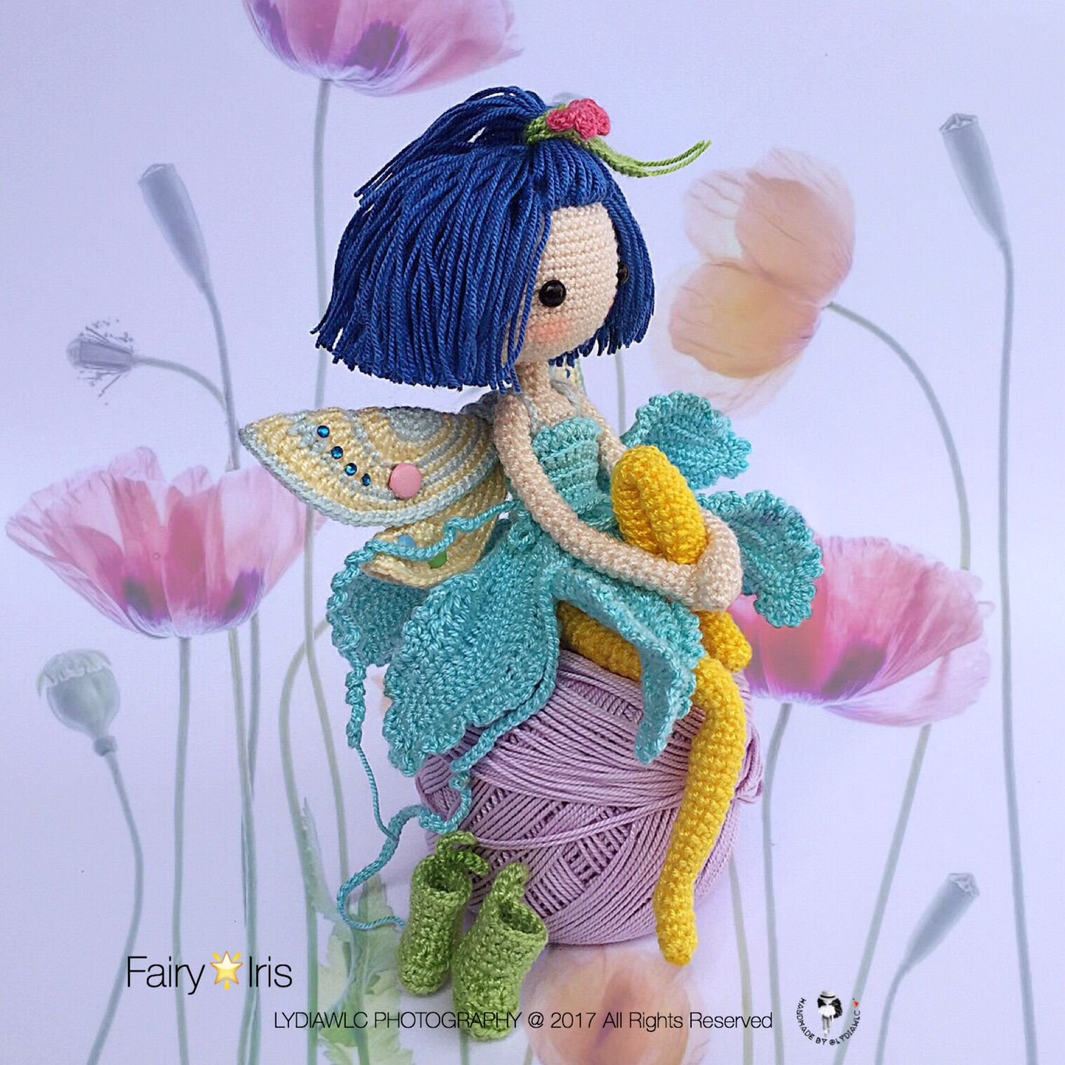 Fairyiris english pdf crochet pattern available at etsy shop fairyiris english pdf crochet pattern available at etsy shop crochet doll fairy bankloansurffo Gallery