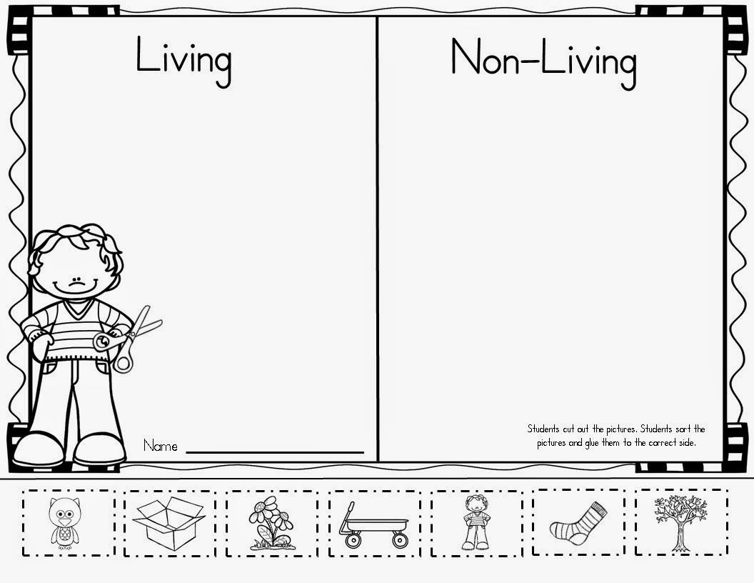 Mrs Mcginnis Little Zizzers Living Non Living Unit Science Worksheets Living And Nonliving 1st Grade Worksheets [ 816 x 1056 Pixel ]