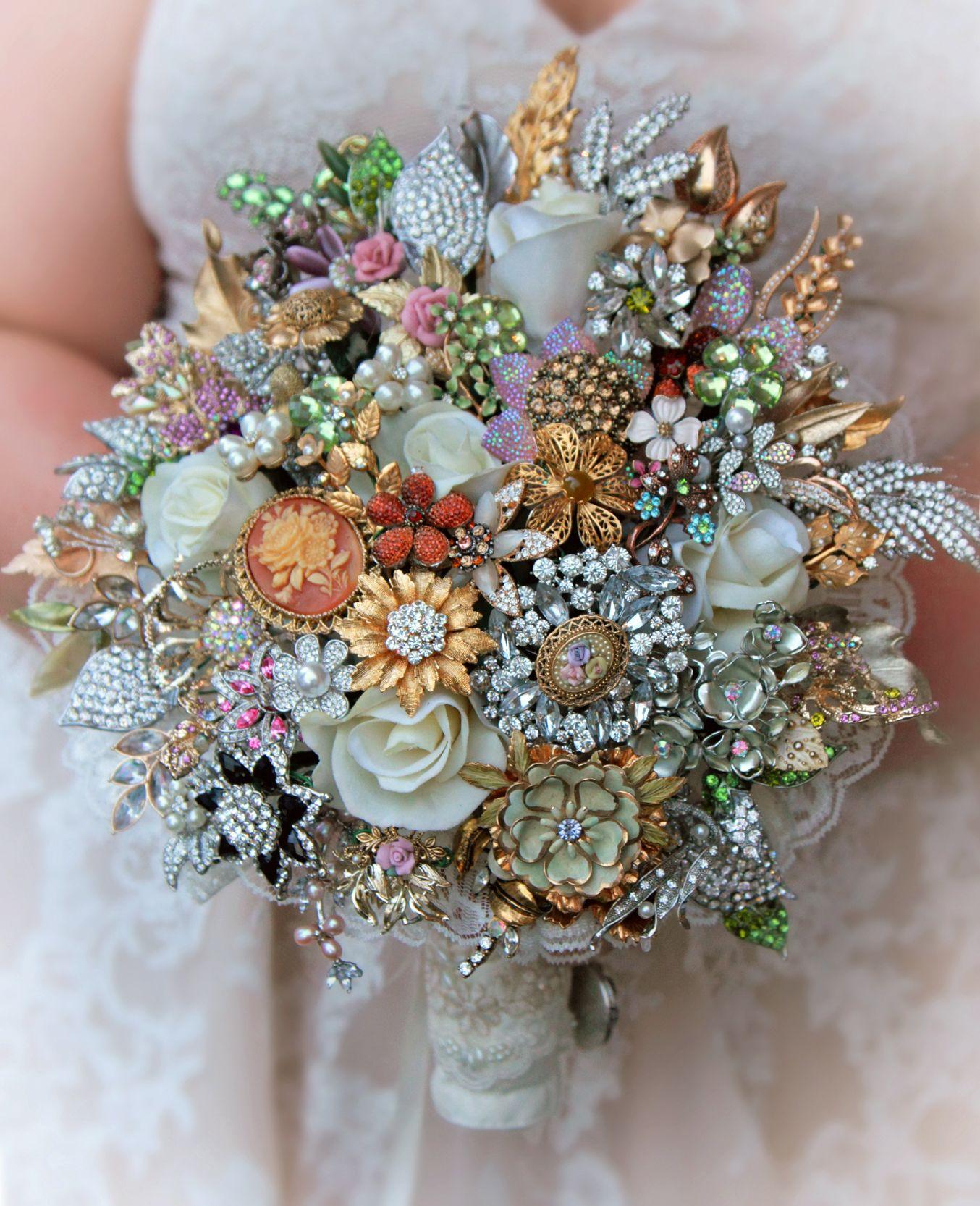 Brooch wedding bouquet image by jan harris wedding