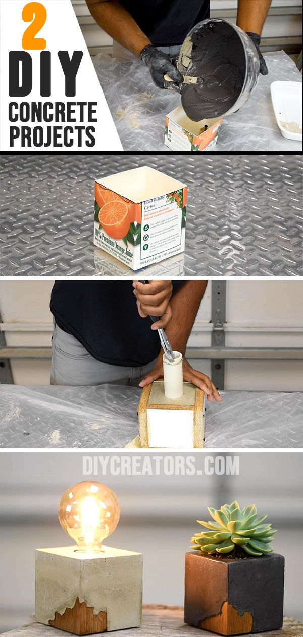 2 DIY Projects you can make from concrete - DIY Creators