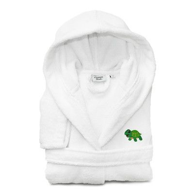 Linum Home Textiles 100% Turkish Cotton Hooded Terry Bathrobe -Turtle Size: