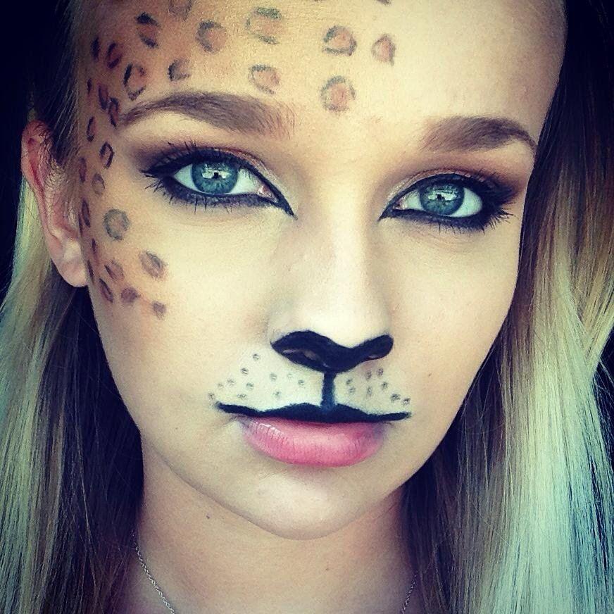 Leopard Print Halloween Makeup  sc 1 st  Pinterest & Animal Halloween Makeup Ideas | Pinterest | Halloween makeup ...