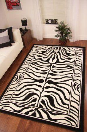 Safari Animal Black Amp White Zebra Stripe Print Rug 190cm X