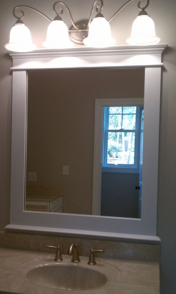 Craftsman style framed mirror 1 shopping tip gogetsave for Craftsman mirrors bathroom