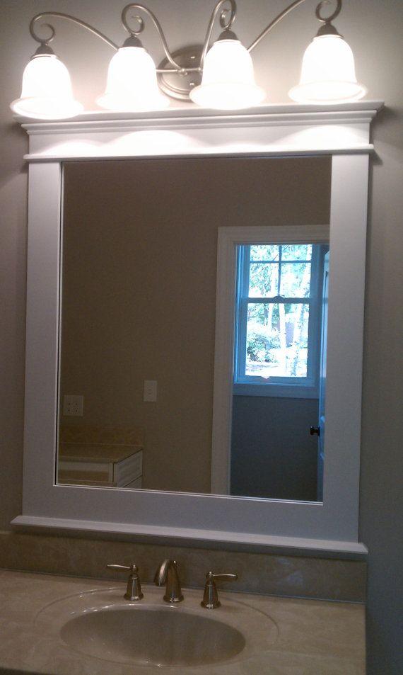 Craftsman Style Framed Mirror By Redclaywoodworks On Etsy 249 00 Craftsman Style Bathrooms Mirror Frame Diy Bathroom Mirrors Diy