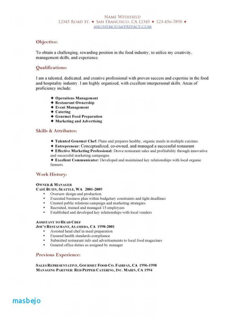 Resume For Waitress Functional Resume Job Resume Examples