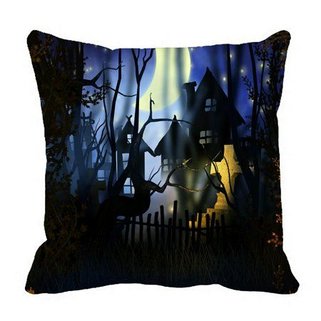 ECZJNT Premade Halloween Pillow Case Pillow Cover Cushion Cover 16x16 Inch