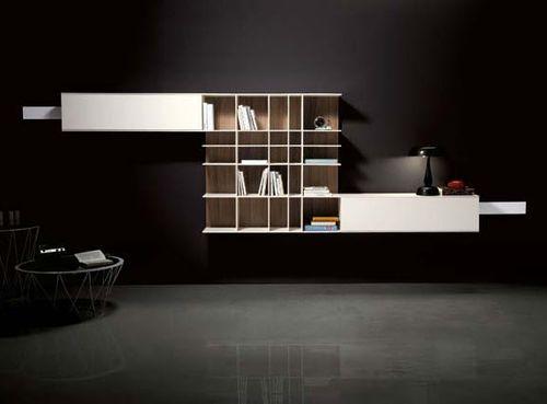 parete attrezzata soggiorno moderna PLOT : COMPOSITION 6 by S ...