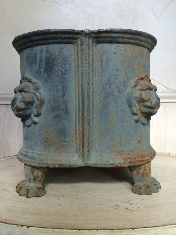 Antique Cast Iron Planter Cast Iron Urn Cast Iron By Frenchtwine