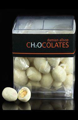 Damian Allsop. Caramelised Pistachios in White chocolate coated in Yogurt Powder