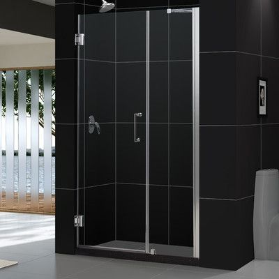 Dreamline Unidoor 54 X 72 Hinged Frameless Shower Door With Clearmax Technology Shower Doors Frameless Shower Doors Frameless Shower