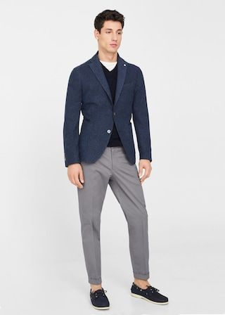 78551b5b8d062 Americana slim fit algodón jaspeada - Hombre en 2019