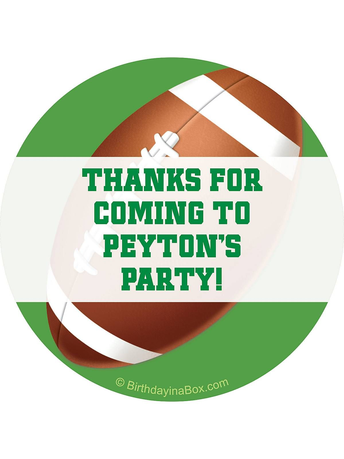 Bargain Party Decorations Football Party Personalized Sticker Ideas Accessories And Football