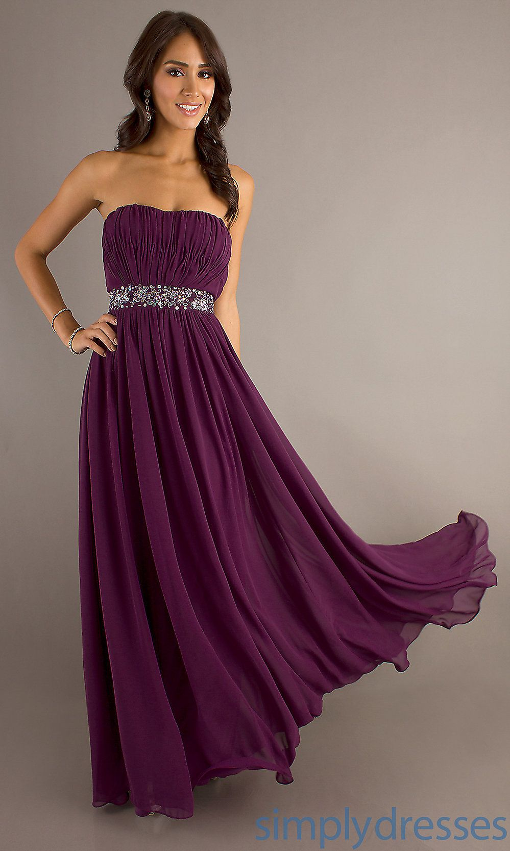 Wedding Plum Dresses long strapless evening gowns classic prom simply dresses dresses