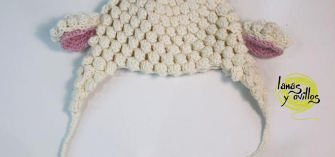 lamb baby hat free crochet pattern with video tutorial