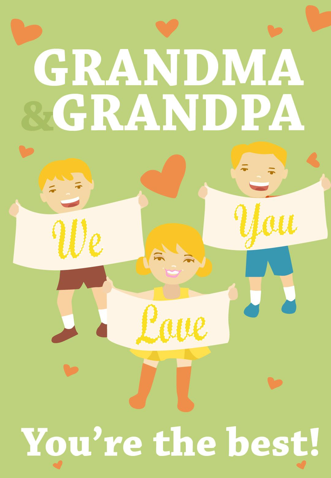 Free Printable Youre The Best Grandparents Greeting Card Christmas Card Template Christmas Cards Free Christmas Card Templates Free