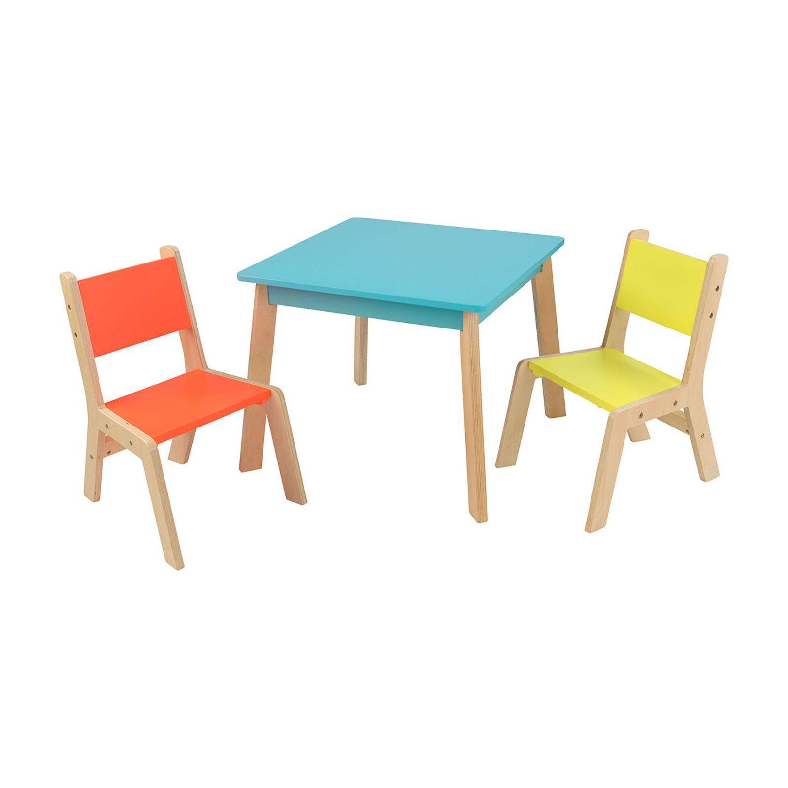 Kidkraft Modern 3 Piece Table And Chair Set Modern Table And Chairs Desk And Chair Set Toddler Table