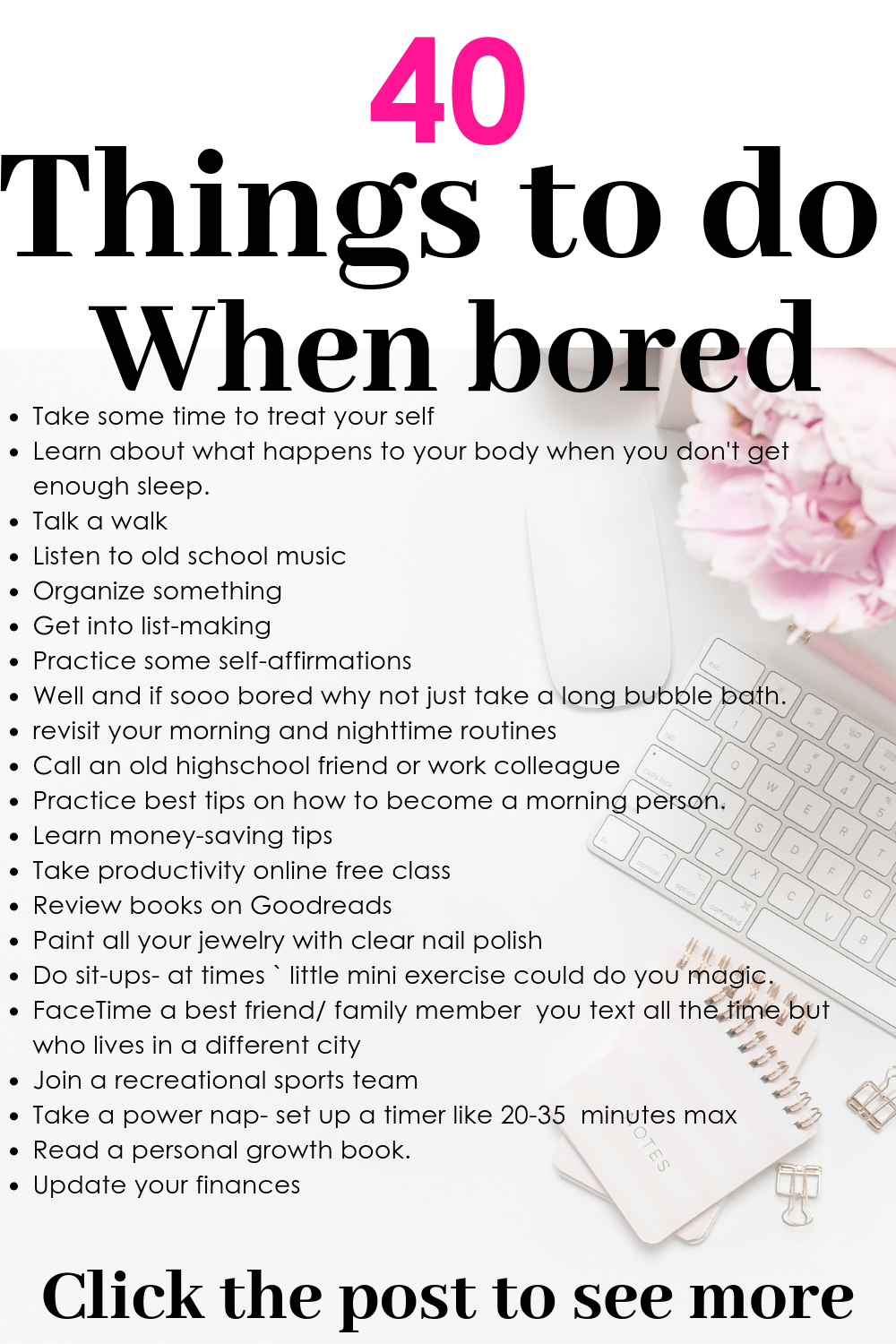 Things To Do When Bored 40 Productive Ideas Things to