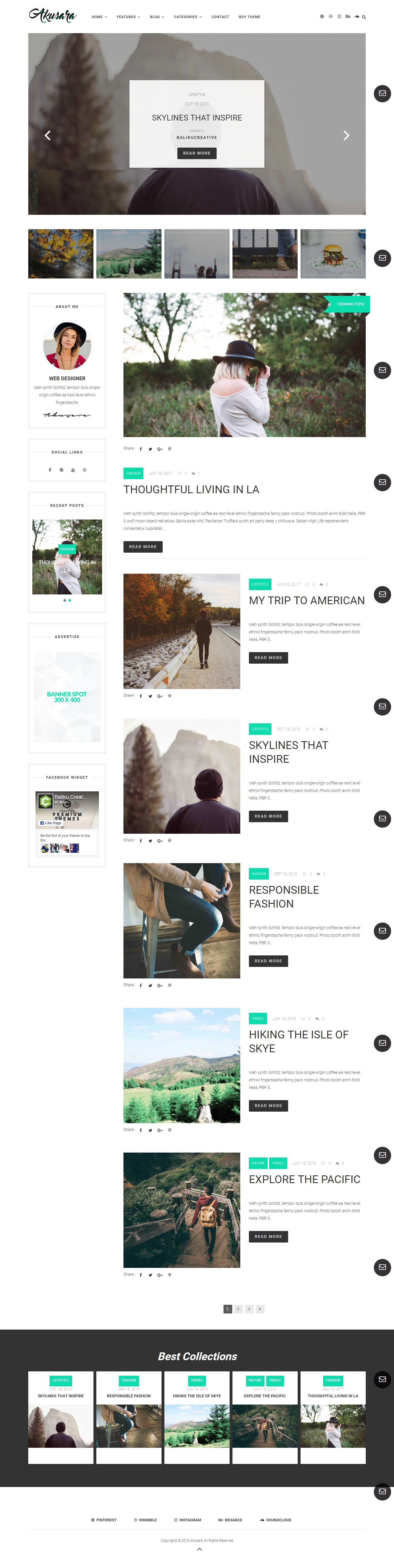 Blog Website Templates Akusara  Multipurpose Blog Theme  Blog Templates Free WordPress