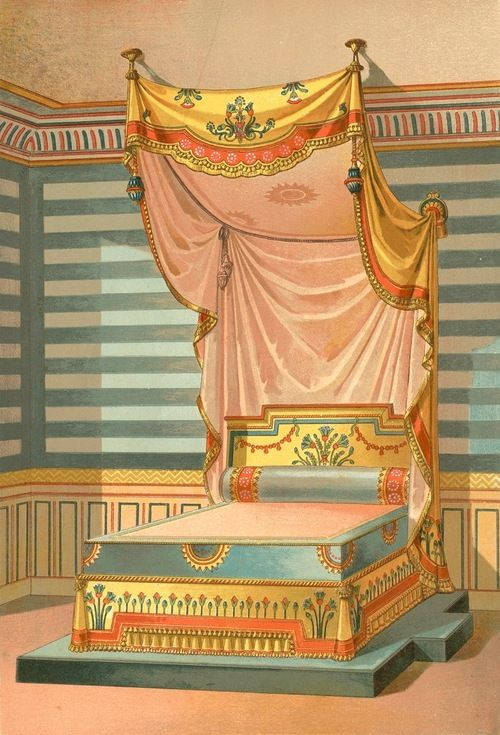 Egyptian Decor Bedroom: Bed In Egyption Style, From Nouveaux Modèles De Tentures