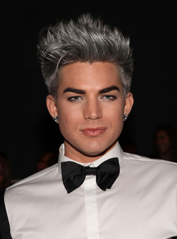 Adam Lambert Silver Hair Hot Hair Colors Silver Hair Men Grey