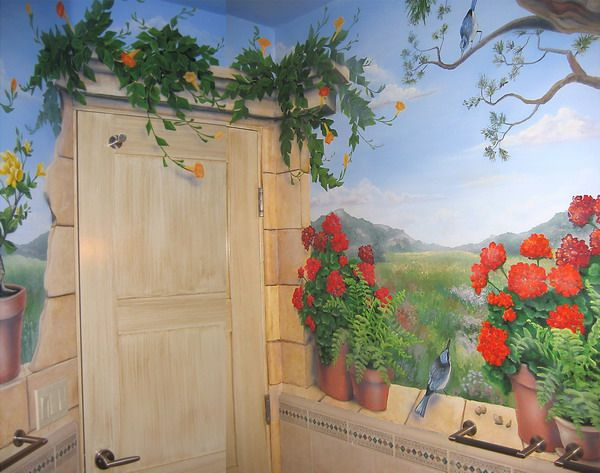 Mural idea for paintingBeauty Garden Wall Murals Design Home