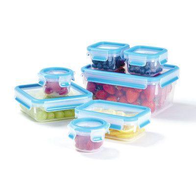 """Zyliss Zyliss """"Fresh"""" Plastic Food Storage Containers, 14-Piece Set"""
