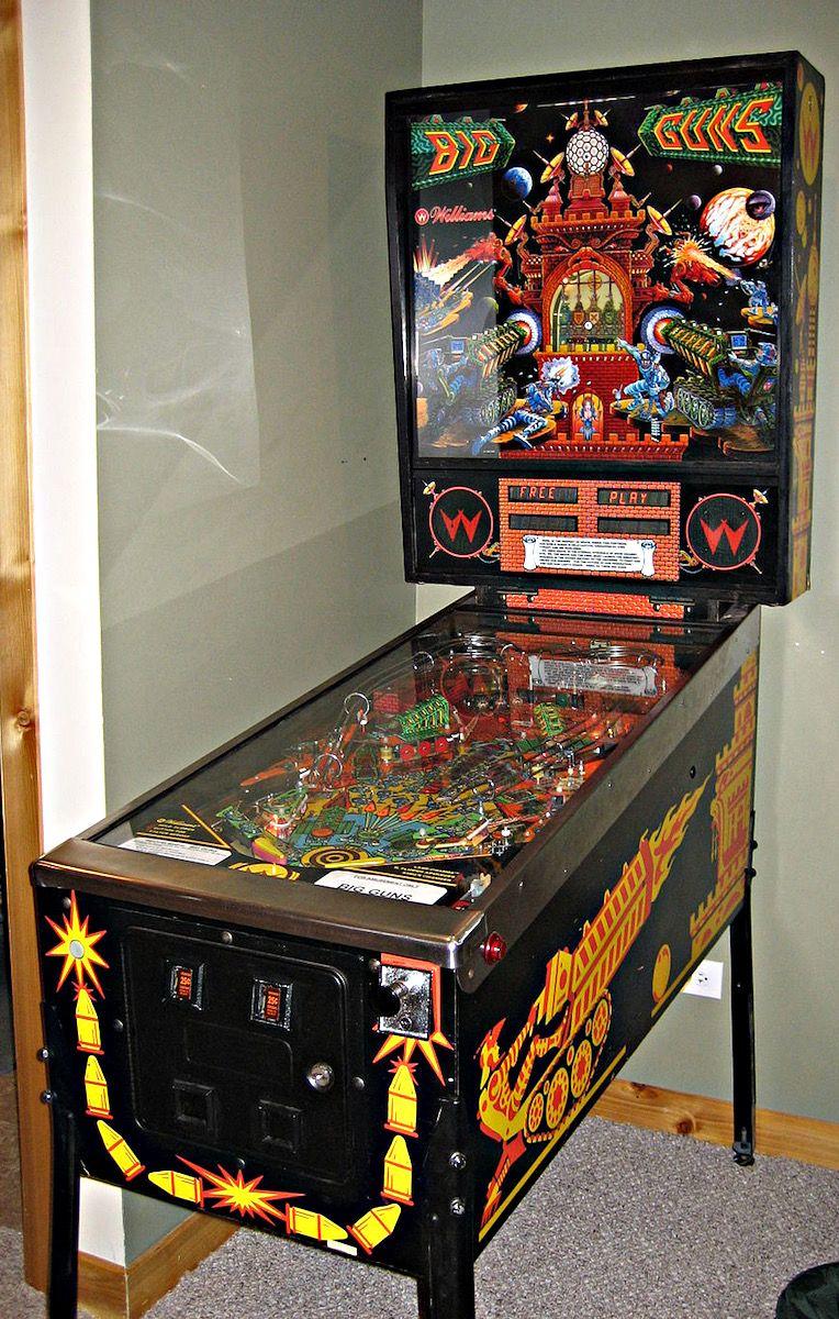 Big Guns Pinball By Williams Pinball Pinball Machine Pinball Art
