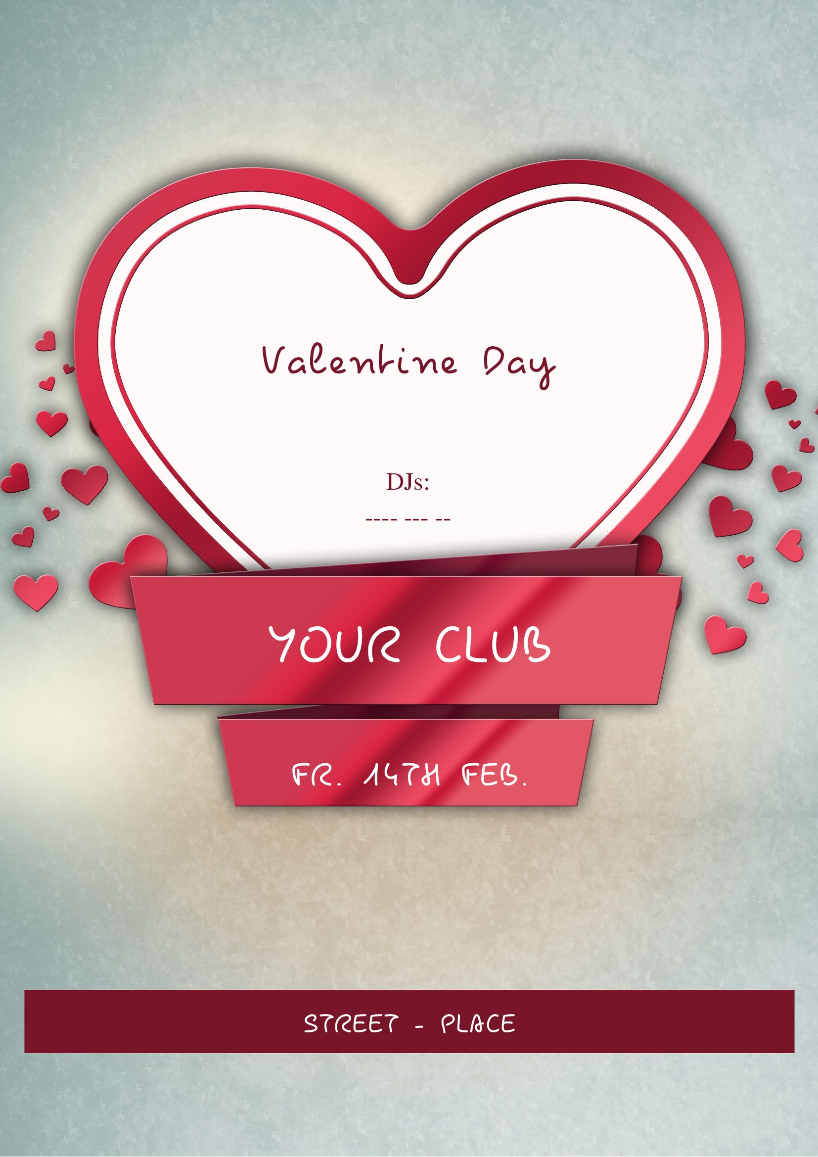 A good way to promote your Valentine\'s Day Party in your place. This ...