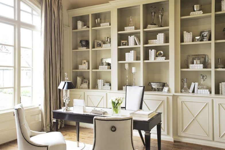 30 Charming Home Office Cabinet Design Ideas For Easy Storage Home Office Design Office Cabinet Design Home Office Cabinets