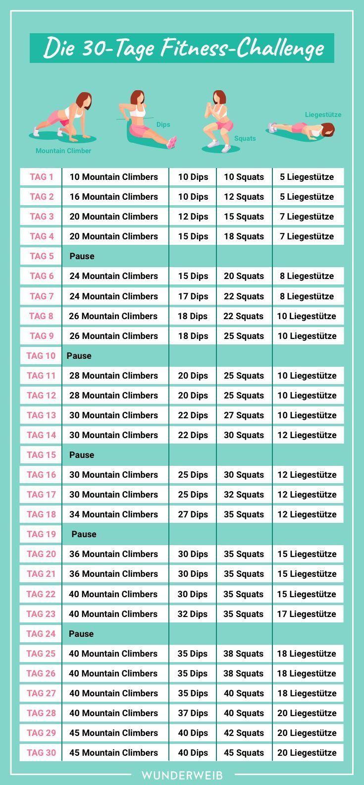 Fitness-Challenge: Mach deinen ganzen Körper in nur 30 Tagen fit | Wunderweib #fitnesschallenges In...