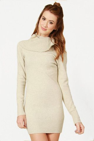 Cozy Sweater Dress By Sugarlips Bkln Look Comfy And Cozy In This