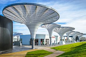 15 Umbrellas Featuring Etfe Film Completed In France La