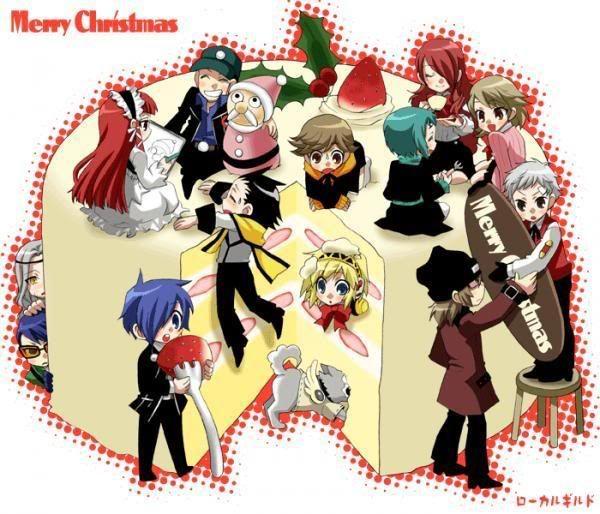 persona 3 characters Christmas cake! | Persona Christmas ...