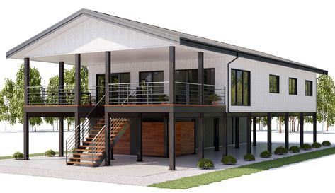House Design For Our Home In The Future Coastal House Plans House On Stilts Beach House Floor Plans