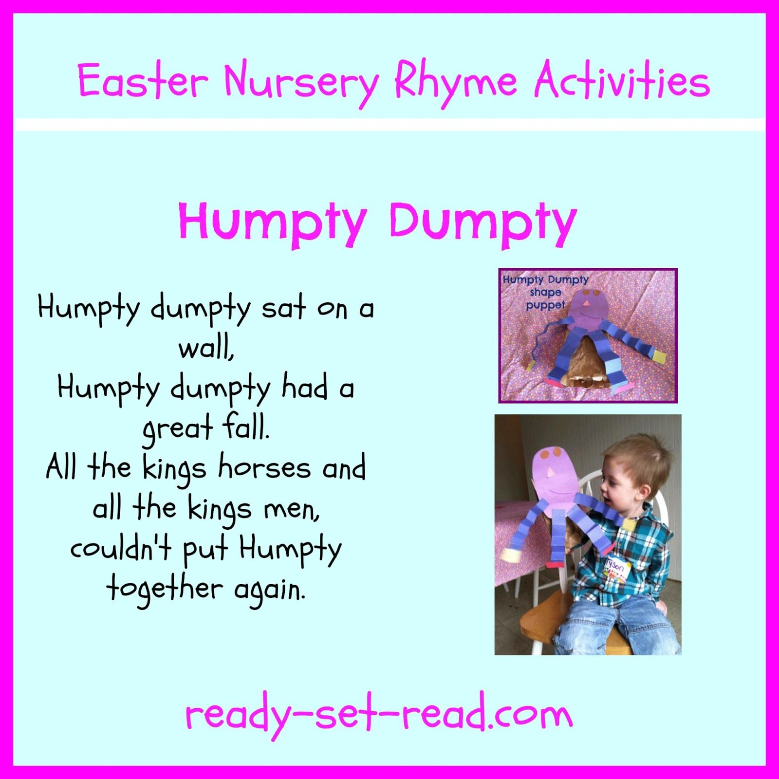 Nursery Rhymes For Easter Day 1 Humpty Dumpty