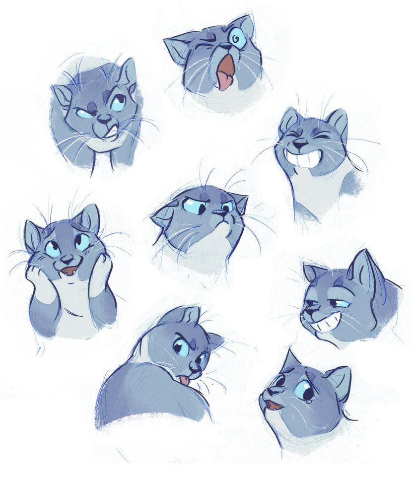 Kitty Expressions By Https Www Deviantart Com Bedupolker On