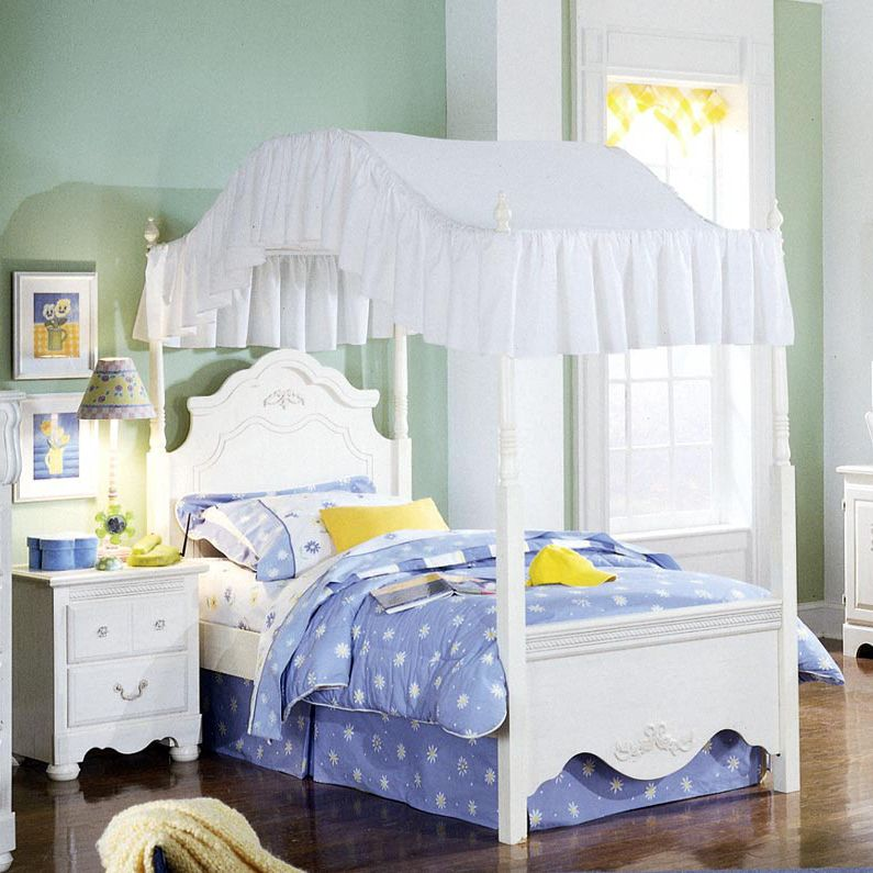 For Lily Girls Bed Canopy Twin Canopy Bed Kids Bedroom Sets
