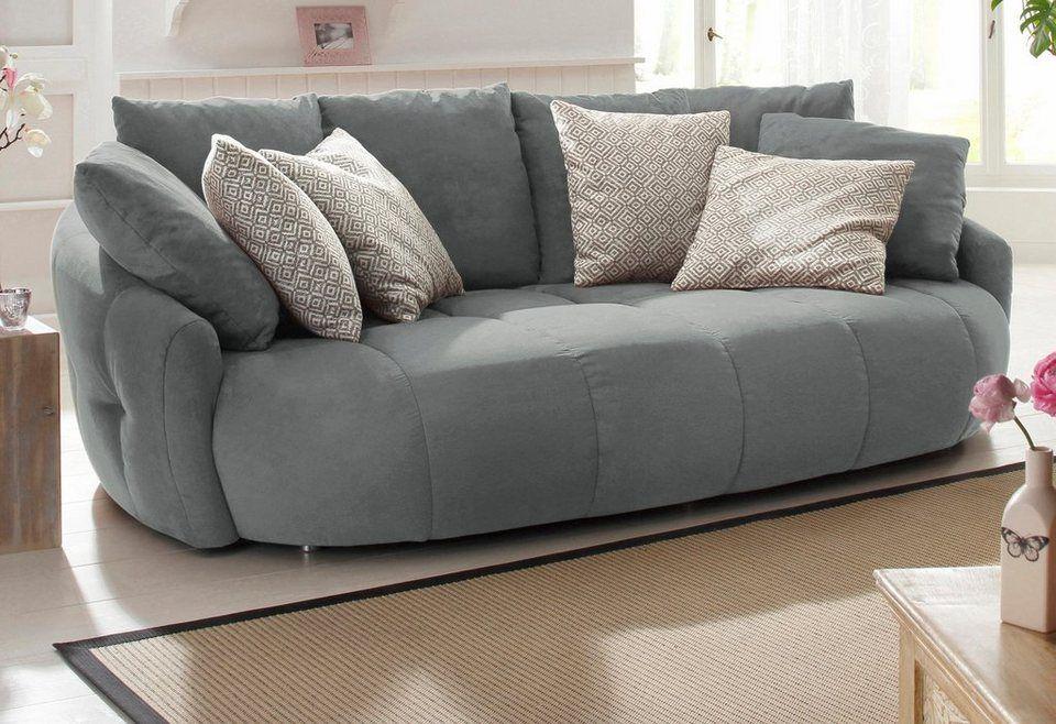 Home Affaire Big Sofa Relax Insel Denny Gerundete Front Federkern Steppung Im Sitzbereich Sofa Zierkissen Sitzen