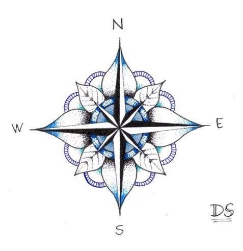 Compass Rose Freezer Paper Transfers Tattoos Compass Tattoo