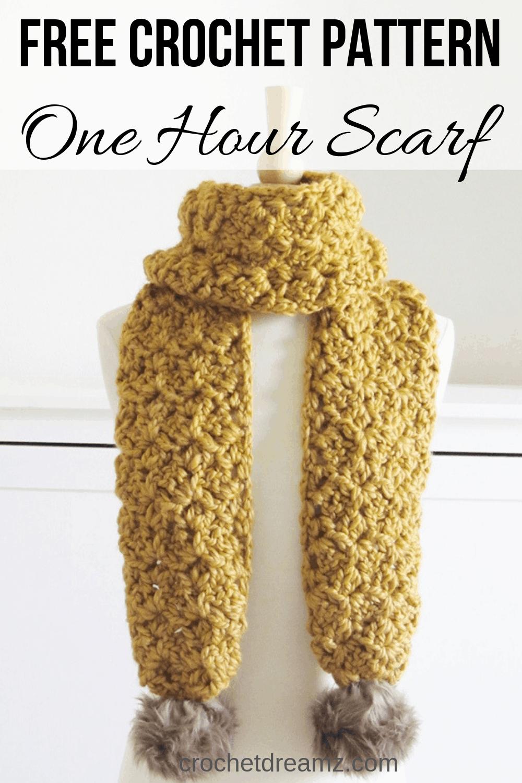 Crochet a Scarf in Under 1.5 Hours - Crochet Dreamz