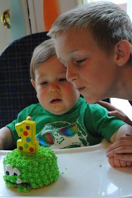 Little smash cake. Monstrous first birthday!