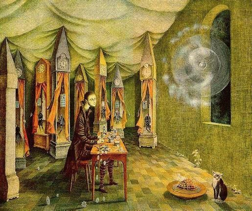 Magic Flight or Zamfonia  by Remedios Varo   Paper Print Reproduction