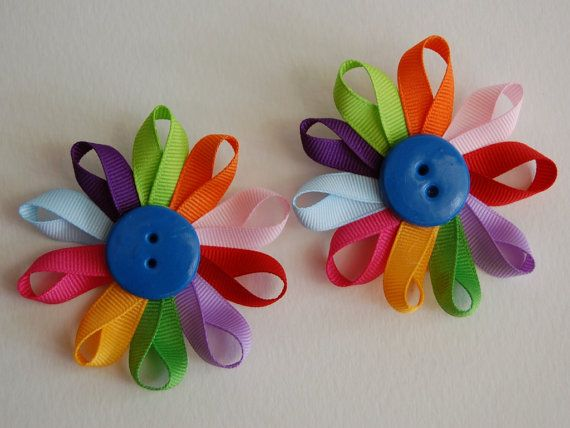 Set of 2 daisy girl scout flower petal by stayhomecupcake for Girl scout daisy craft ideas