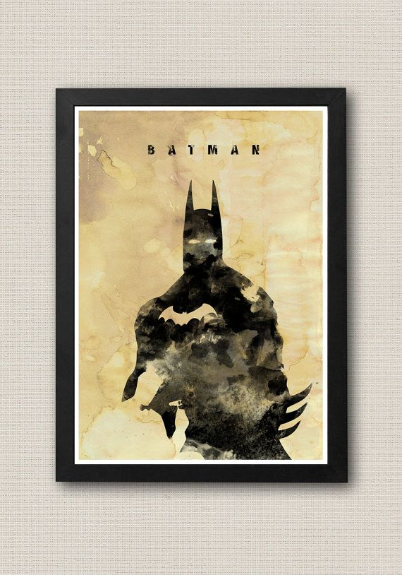 Justice League Batman Ink Effect Poster / Print 220 gr by onlyarts, $14.90