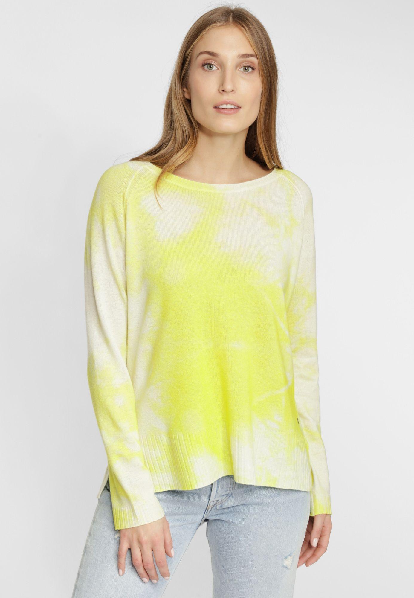 Grace Strickpullover im Batik Look Damen Gelb Größe XL in