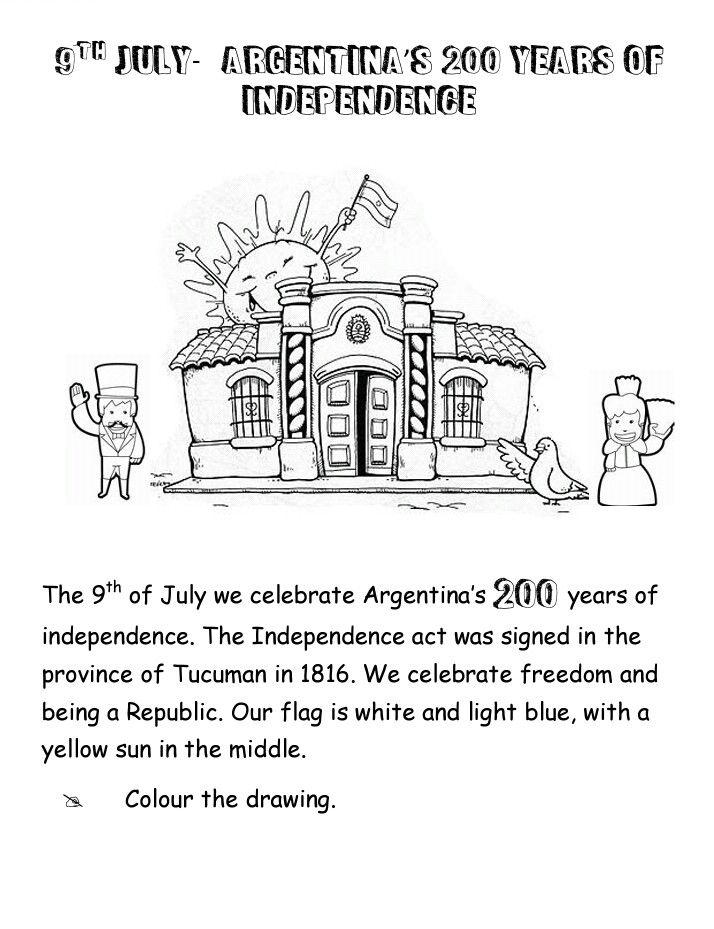Worksheet Argentinas Independence Day 200years Of Independence