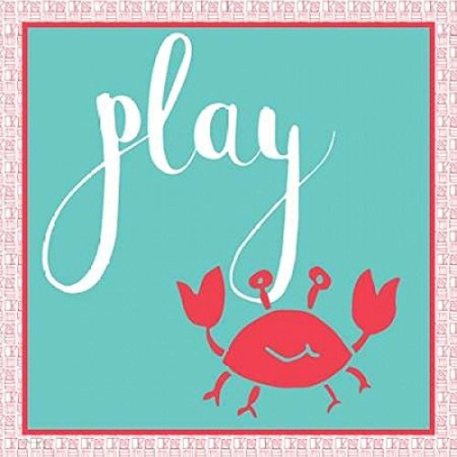 Play Crab Poster Print by Pamela J. Wingard (12 x 12) - Brought to you by Avarsha.com