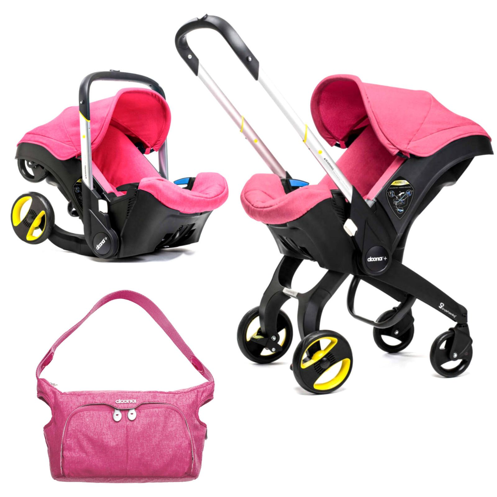 Doona Infant Car Seat / Stroller With Changing Bag Sweet